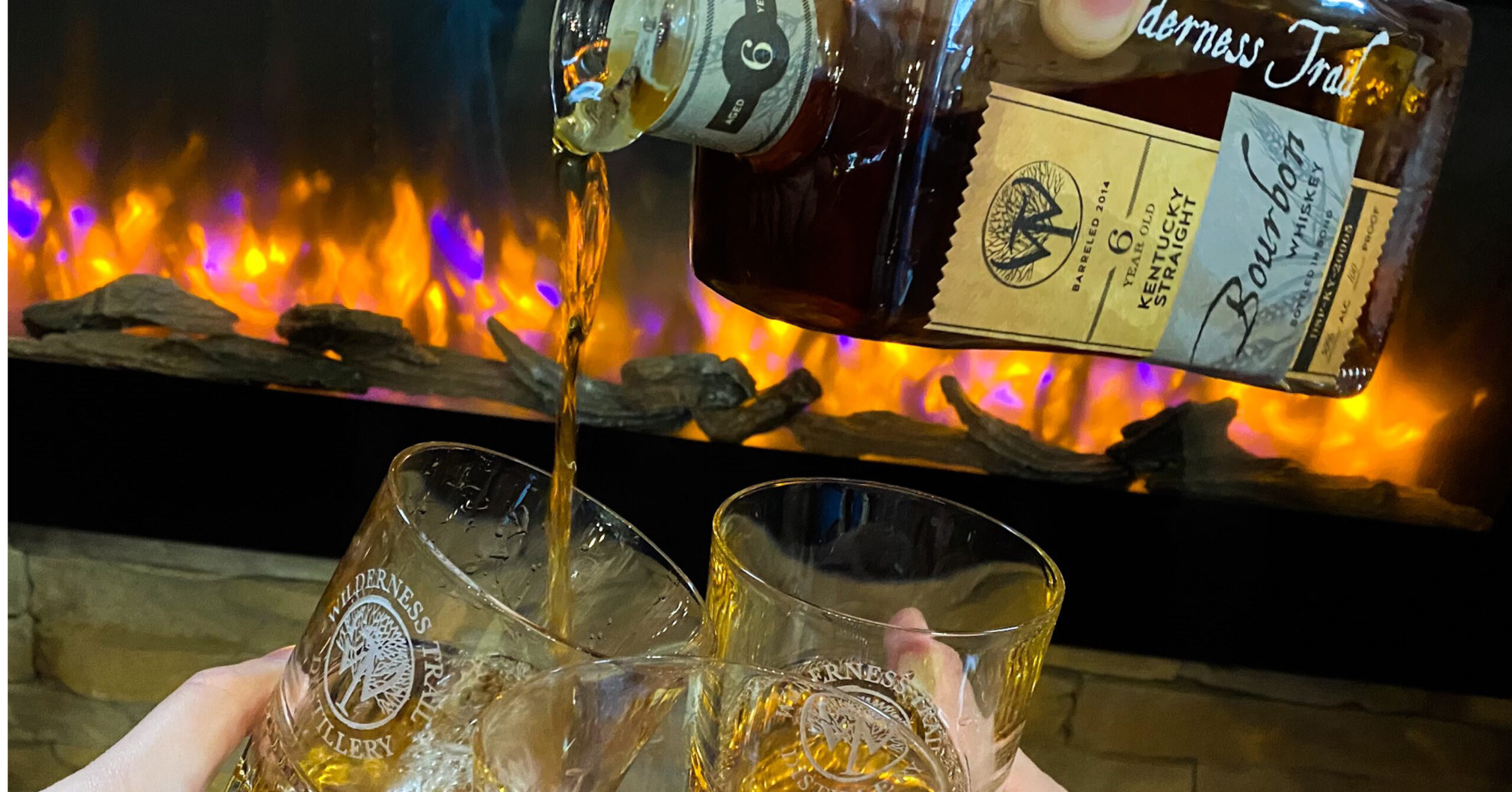 Wilderness Trail Bourbon is perfect for fireside chats.