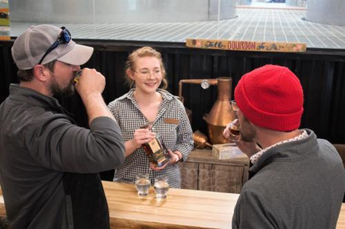 Jaime Iacono enjoys sharing her love of Wilderness Trail spirits with visitors.